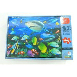 Shark Waters Super 3D Puzzle, by Milton Bradley MB